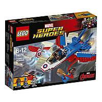 Конструктор 76076 LEGO Super Heroes Воздушная погоня Капитана Америка