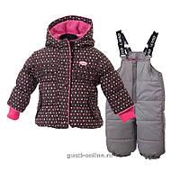 Комбинезон зимний для девочек Gusti Boutique GWG 4747 Raven. Размер 90 - 98.