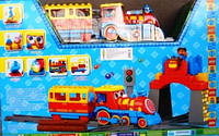 Конструктор JIXIN 8588 C Вокзал, поезд, фигурки  Конструктор JIXIN 8588 C Вокзал, поезд, фигурки, в кор-ке