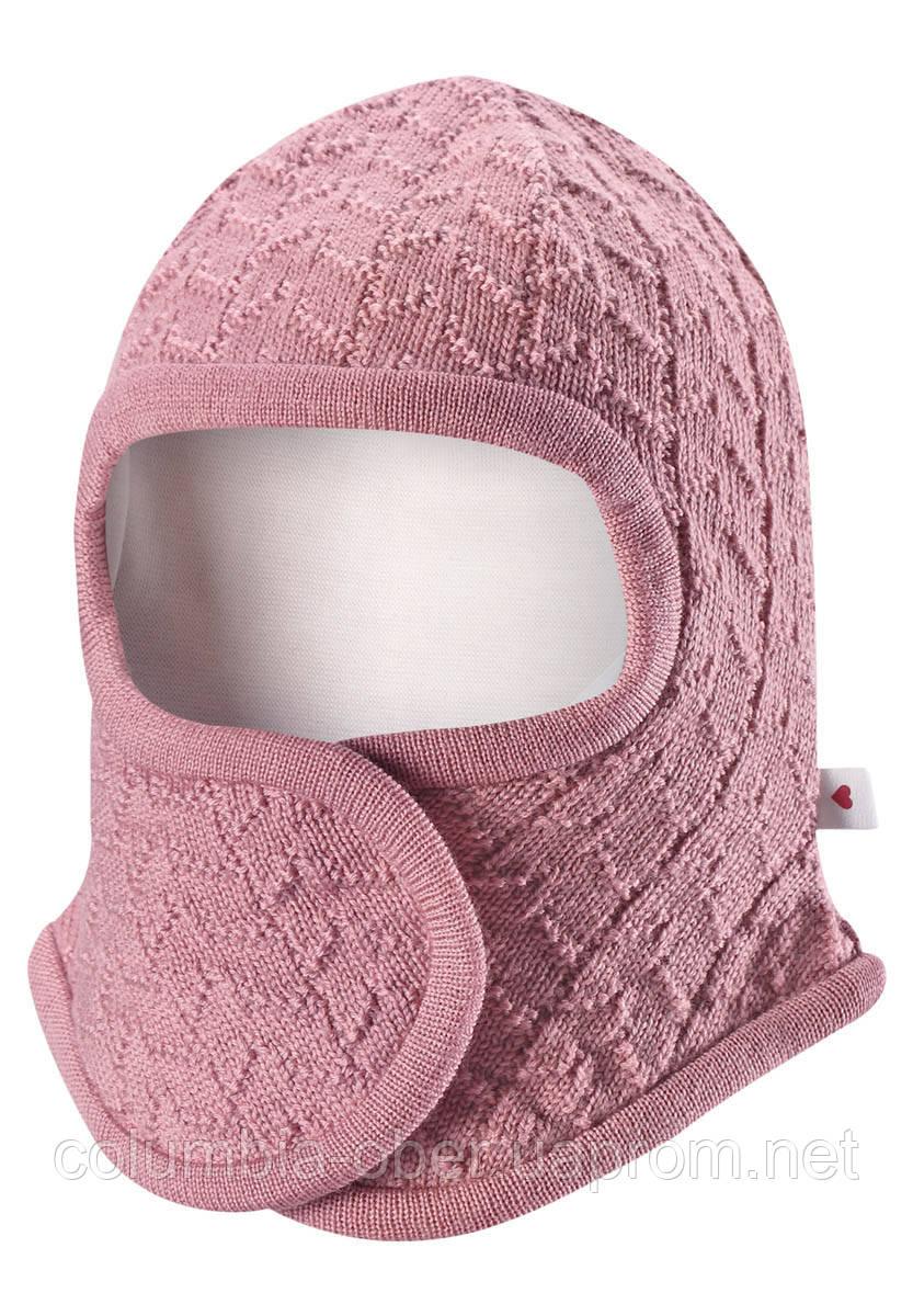 Детская зимняя шапка шлем для девочек Reima Littlest 518386-4320. Размер 34-44.
