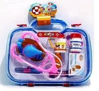Доктор набір у пластиковому чемодані. 9 елементів 27х23х9 ( Ч )