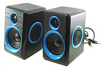 Компьютерные колонки акустика 2.0 USB FnT FT-165 Синие