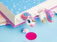Закладка для книг MyBookmark - Glam Unicorn - Оригинальный подарок, ручная работа, Единорог