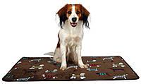 "Коврик ""Fun Dogs"" Trixie, 70*50 см (коричневый с собачками)"