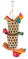 Игрушка мультиколор с пальмов.листом для попугаев Trixie, 35 см