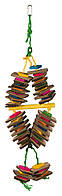 Игрушка мультиколор с деревянными блоками для попугая Trixie, 35 см
