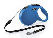 Рулетка Flexi NEW CLASSIC  М  8m/20kg  (трос) синяя