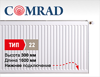 Стальной панельный радиатор COMRAD Ventil Compact 22 300x1600