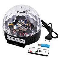 Диско шар Magic Ball Светомузыка USB MP 3 Пульт