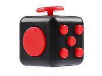 Іграшка антистрес Кубик  Чорний з червоним