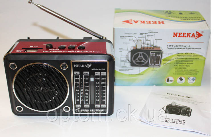 Радиоприёмник Neeka NK-203 USB