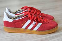 Кроссовки Adidas gazelle indoor red (Реплика ААА+)