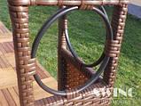 Павильон шатер Ротанговый 3x4 м Черно-серый с Диодным освещением, фото 8