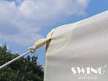 Павильон шатер Ротанговый 3x4 м Черно-серый с Диодным освещением, фото 9