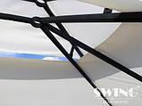 Павильон шатер Ротанговый 3x4 м Черно-серый с Диодным освещением, фото 10