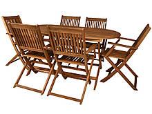 Набор деревянной мебели BOSTON Стол + 6 кресел