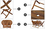 Набор деревянной мебели BOSTON Стол + 6 кресел, фото 7