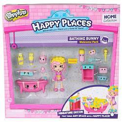Игровой набор с куклой HAPPY PLACES S1 – ВАННАЯ КОМНАТА БАБЛИ ГАМ 56327