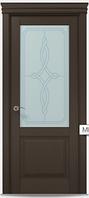"""Двери межкомнатные Папа карло """"Millenium ML-11""""  бевелс экошпон renolit  Дуб мокко"""