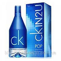 Мужская туалетная вода Calvin Klein CKIN2U POP for Him (свежий древесно-фужерный аромат), фото 1