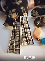 Стильные модные тибетские Серьги женские Тибет 2015 серебро