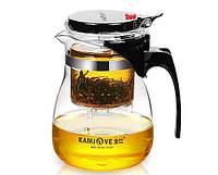 Заварочный чайник с кнопкой Kamjove TP-757. 700 мл.
