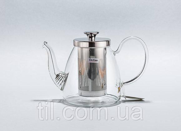 Стеклянный чайник для чая 800 мл.