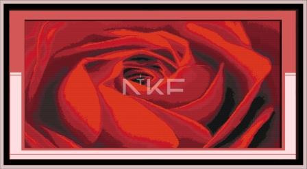 Звучание розы H160 Набор для вышивки крестом