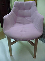 Крісло TORONTO рожеве  59x 65x87 см , Польща , з тканини