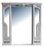 Шкаф зеркальный в ванную комнату Барселона 195 rame Ольвия