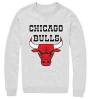 Мужская толстовка Chicago Bulls светло-серая