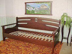 """Деревянный диван - кровать """"Луи Дюпон - 2"""" (200*90). Массив – ольха. Покрытие - № 11."""