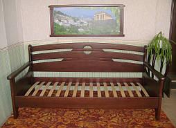 """Деревянный диван - кровать """"Луи Дюпон - 2"""" (200*90). Массив – ольха. Покрытие - № 11. 1"""