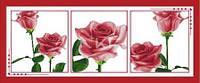 Воспоминания в розах (триптих)  Набор для вышивки крестом