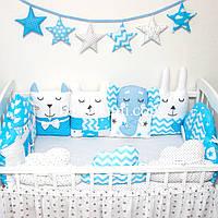"""Бортики защита в кроватку на 4 стороны """"Маленький принц"""" , фото 1"""