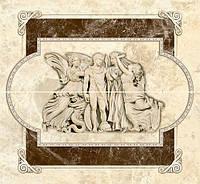 Декор панно Интеркерама Эмперадор настенное 460*500 Intercerama Emperador П 66 031 для ванной,кухни.