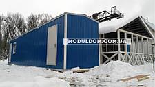 Вагончик, склад-раздевалка, мобильная (12 х 2.5 м.) для спецодежды, на основе цельно-сварного металлокаркаса., фото 2