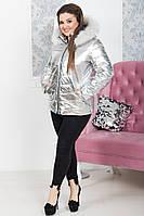 Серебристая куртка с капюшоном ORIGINAL SILVER FOIL 48-50 , 52-54рр