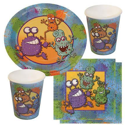 Одноразовая посуда для детей - Partyset Monster 44 шт., фото 2