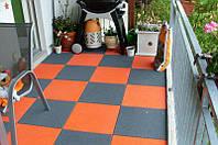 Резиновая плитка для балкона и патио, фото 1