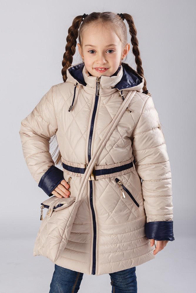 Весенняя курточка + сумка для девочки