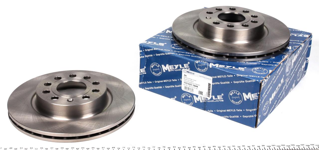 Тормозной диск Фольксаген кадди /Caddy/ Octavia 2004- MEYLE 1155211044 передний вентилируемый [280x22]