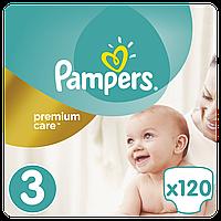 Подгузники Pampers (підгузники) Premium Care Размер 3 (Midi) 5-9 кг, 120 подгузников