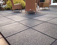 Резиновое напольное покрытие для открытой террасы. Резиновая плитка