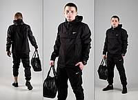 Спортивный костюм мужской Анорак + Штаны! черный