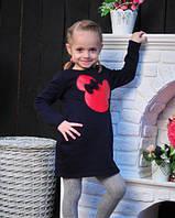 Нарядное яркое платье для девочки в расцветке