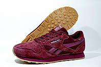 Кроссовки женские Reebok Classic Leather, Бордовые