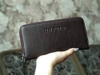 Мужской кошелек/портмоне темно-коричневого цвета, фото 1