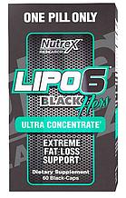 Комплексні схуднення, Nutrex, Lipo 6 Black Hers ultra concentrate, caps 60