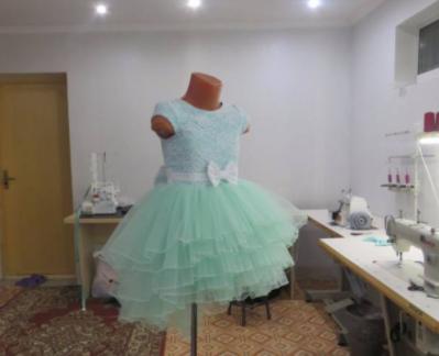 Детское платье  - ментол